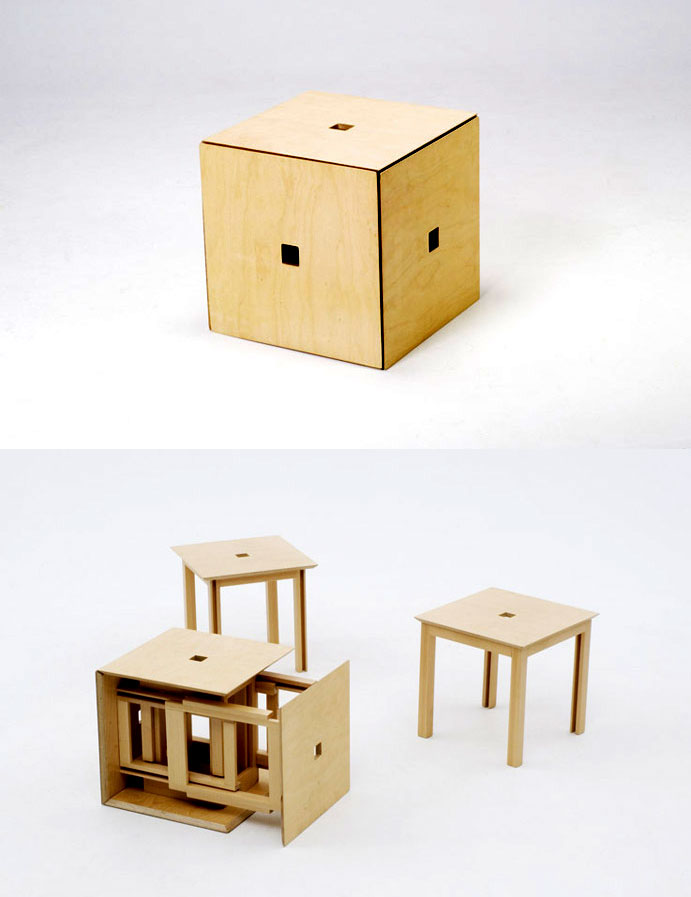 awesome-design-ideas-Space-saving-Cube6-dining-set-Naho-Matsuno-1