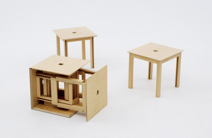 Awesome Design Ideas » Space-saving dining set by Naho Matsuno