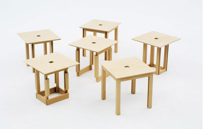 awesome-design-ideas-Space-saving-Cube6-dining-set-Naho-Matsuno-3