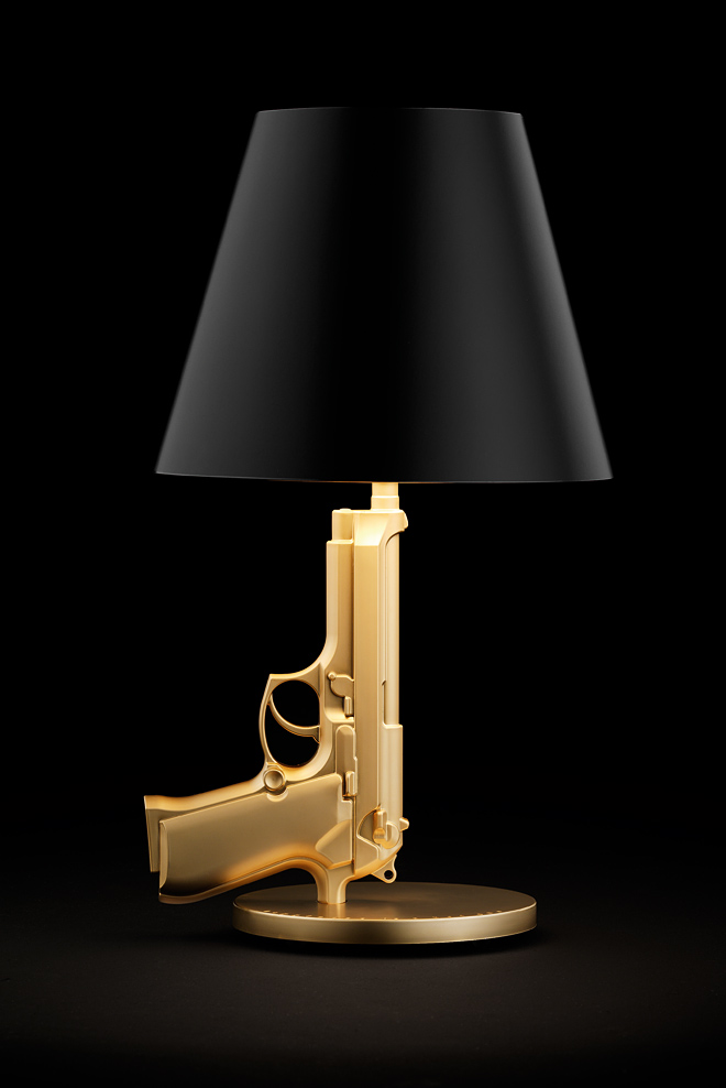 awesome-design-ideas-Bedside-Gun-Table-Lamp-Philippe-Starck-1