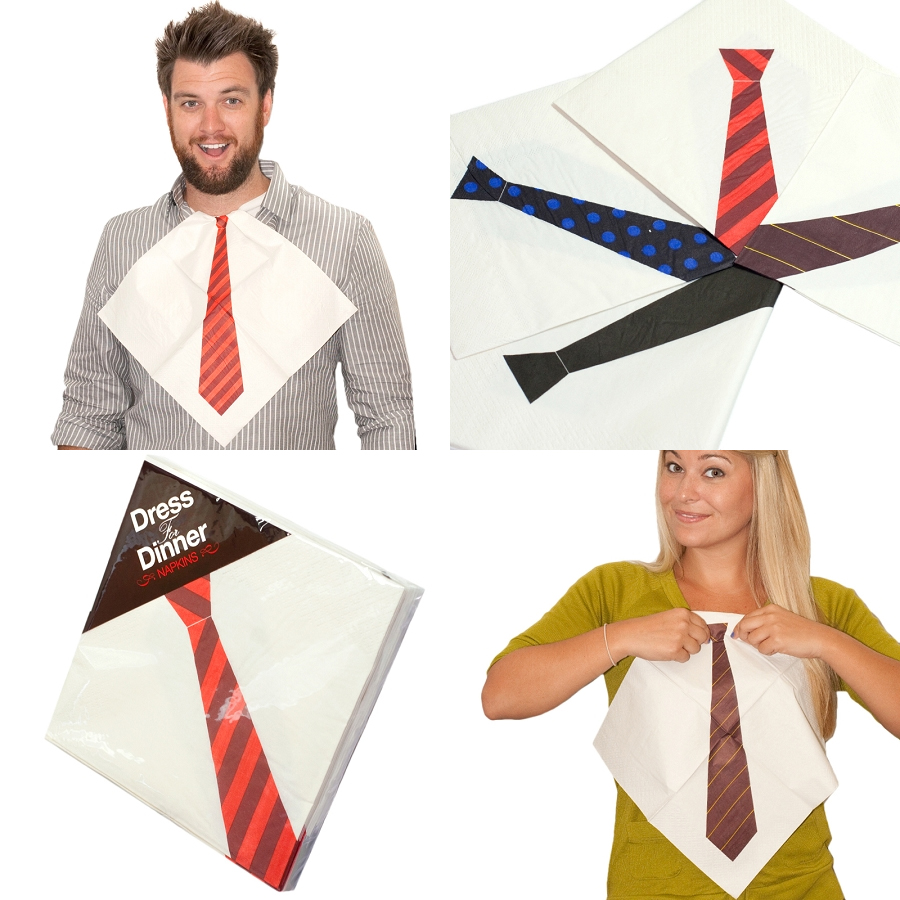 awesome-design-ideas-Dress-Dinner-Necktie-Napkins-2