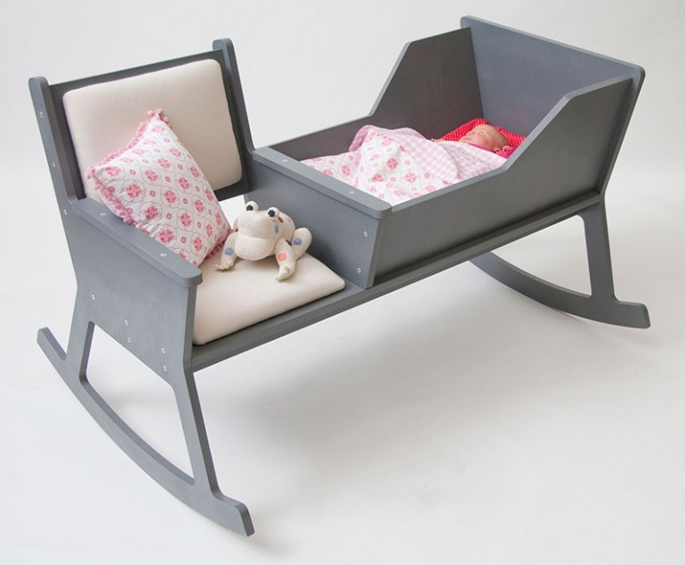 Awesome Design Ideas » A Rocking Chair and Cradle in One by ...