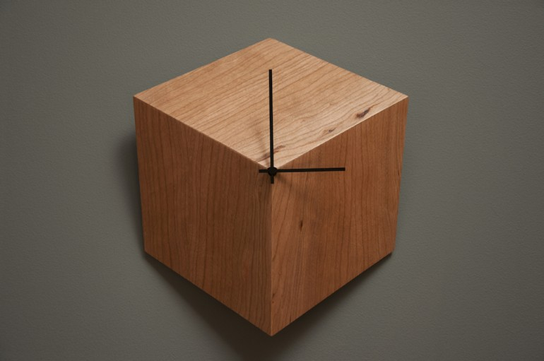awesome-design-ideas-3P-Clock-Geometric-Minimalist-Wood-Robocut-studio-1