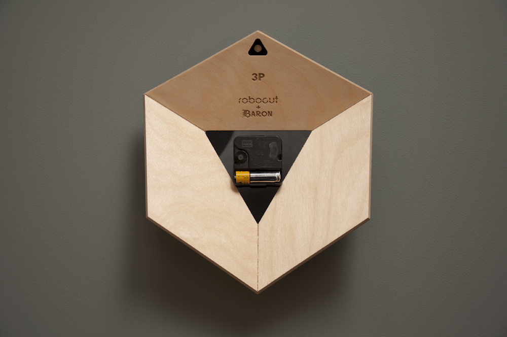 awesome-design-ideas-3P-Clock-Geometric-Minimalist-Wood-Robocut-studio-2
